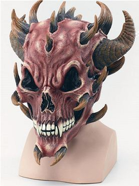 Adult Red Devil Skull Mask