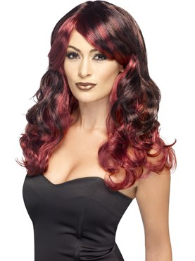 Adult Red Devilish Ombre Wig
