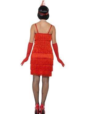 Adult Red Flapper Costume - Side View