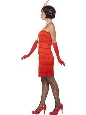 Adult Red Flapper Costume - Back View