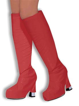 Adult Red Gogo Boot Tops
