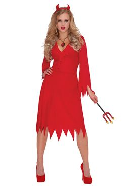Adult Red Hot Devil Costume Thumbnail
