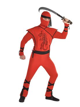 Adult Red Ninja Costume