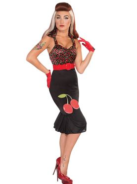 Adult Cherry Anne Retro Rock Dress Costume Thumbnail