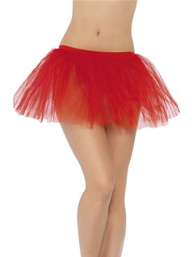 Adult Red Tutu Underskirt - Back View
