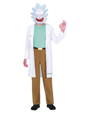Adult Rick Costume - Back View