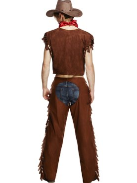 Adult Ride Em High Cowboy Costume - Side View
