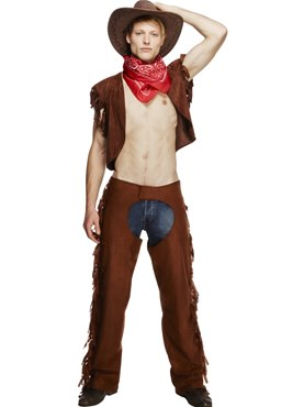Adult Ride Em High Cowboy Costume