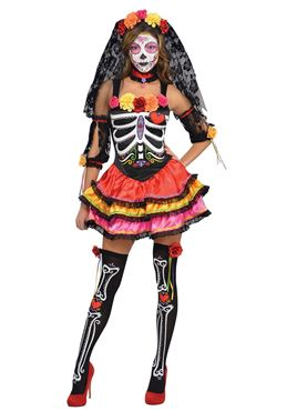 Adult Day of the Dead Senorita Costume Couples Costume