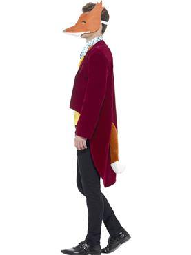 Adult Roald Dahl Fantastic Mr Fox Costume - Back View