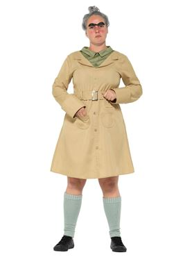 Adult Roald Dahl Miss Trunchbull Costume - Side View