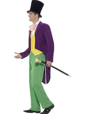 Adult Roald Dahl Willy Wonka Costume - Back View