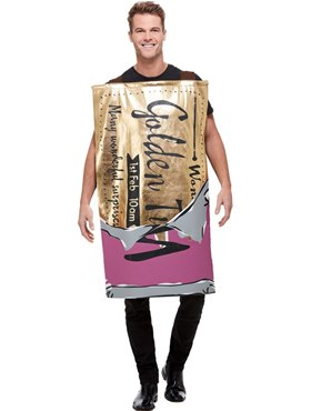 Adult Roald Dahl Winning Wonka Bar Costume - Back View