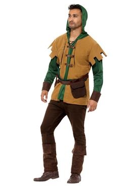 Adult Robin Of The Hood Costume - Back View