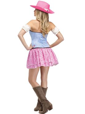 Adult Rodeo Cowgirl Sweetie Costume - Back View