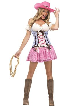 Adult Rodeo Cowgirl Sweetie Costume