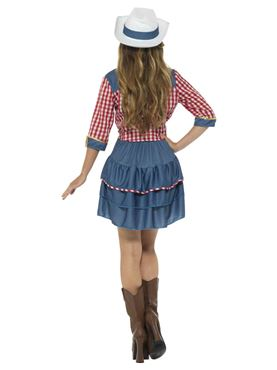 Adult Rodeo Doll Costume - Side View