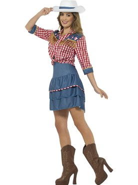 Adult Rodeo Doll Costume - Back View