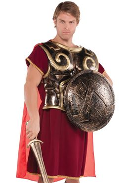 Adult Roman Spartan Chest Plate with Cape