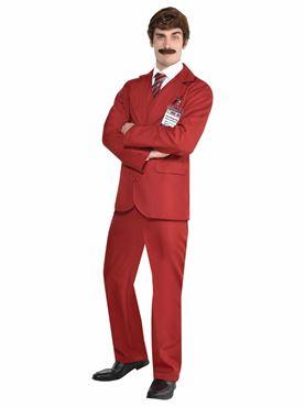 Adult Ron Burgundy Costume