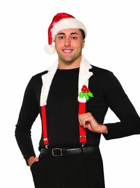 Adult Santa Collar and Braces Set