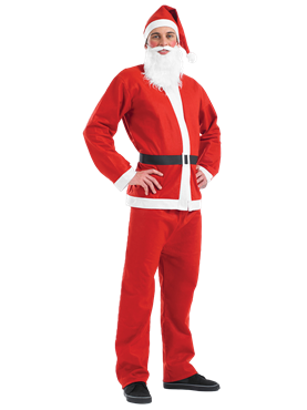 Adult Santa Suit Costume Thumbnail