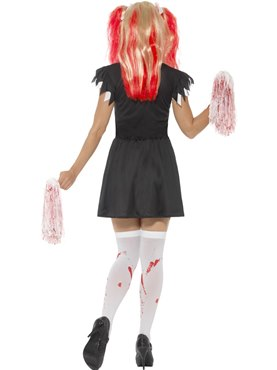 Adult Satanic Cheerleader Costume - Side View