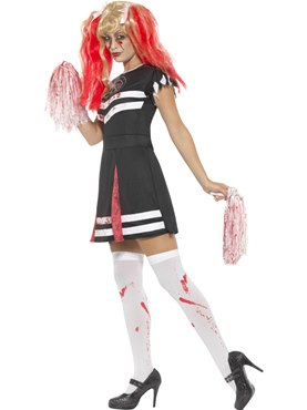 Adult Satanic Cheerleader Costume - Back View