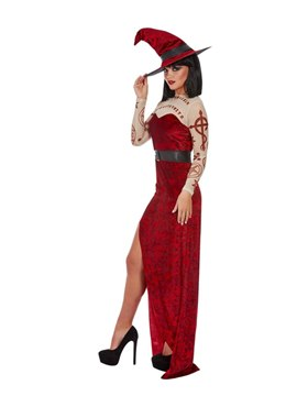 Adult Satanic Witch Costume - Back View
