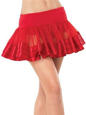 Adult Satin Trimmed Petticoat (Various Colours) - Back View
