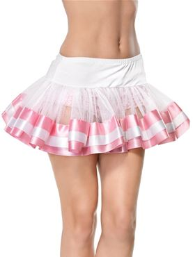 Adult Satin Trimmed Petticoat (Various Colours)