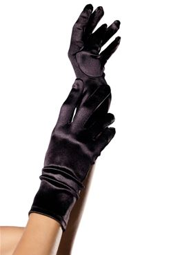 Adult Satin Wrist Gloves
