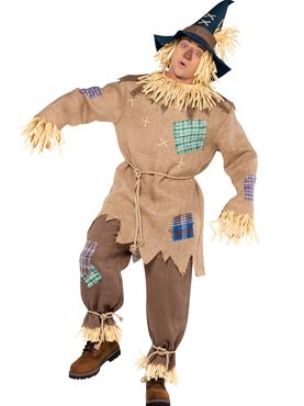 Adult Scarecrow Costume Couples Costume