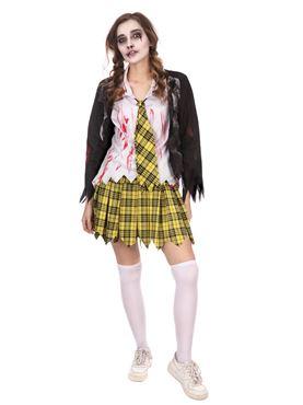 Adult School Girl Zombie Costume