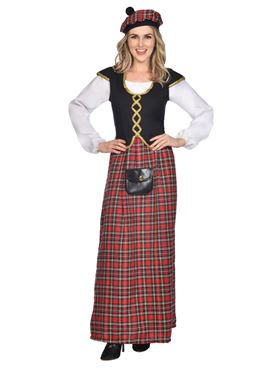 Adult Scottish Lady Costume Couples Costume