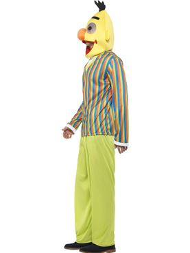 Adult Sesame Street Bert Costume - Back View