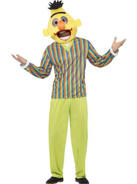 Adult Sesame Street Bert Costume Couples Costume