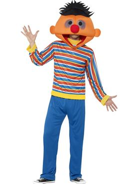 Adult Sesame Street Ernie Costume Couples Costume