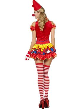 Adult Sexy Bubbles the Clown Costume - Back View