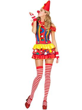 Adult Sexy Bubbles the Clown Costume Thumbnail