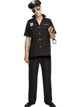 Adult Fever Sexy Cop Costume Couples Costume