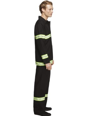 Adult Sexy Fireman Costume - Back View