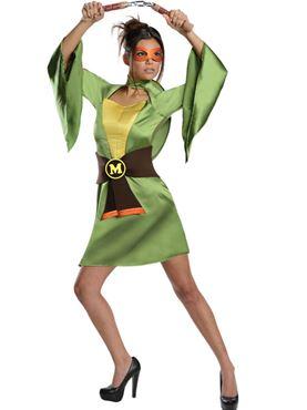 Adult Sexy Michaelangelo Ninja Turtle Costume Thumbnail