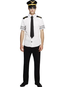 Adult Sexy Mile High Pilots Costume Couples Costume