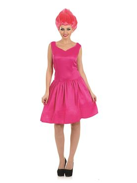 Adult Sexy Pink Pixie Troll Doll Costume