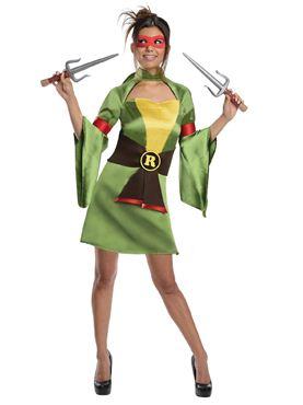 Adult Sexy Raphael Ninja Turtle Costume Thumbnail
