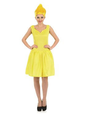 Adult Sexy Yellow Pixie Troll Doll Costume