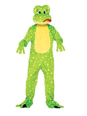 Adult Freddy Frog Mascot Costume
