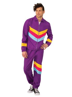 Adult Men's 80's Shell Suit Costume Couples Costume