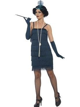 Adult Short Teal Flapper Costume